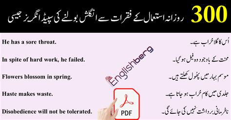 Common english sentences used in daily life with urdu