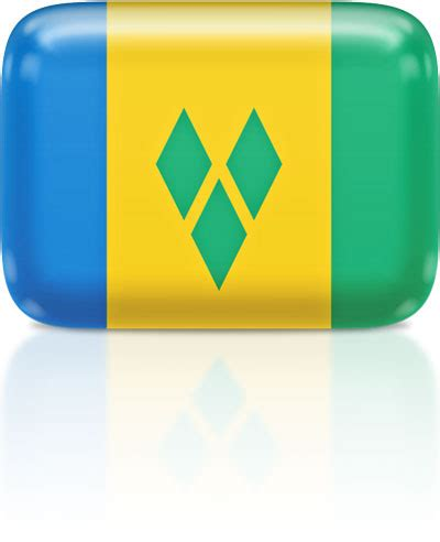 Flag Icons of Saint Vincent and the Grenadines   3D Flags