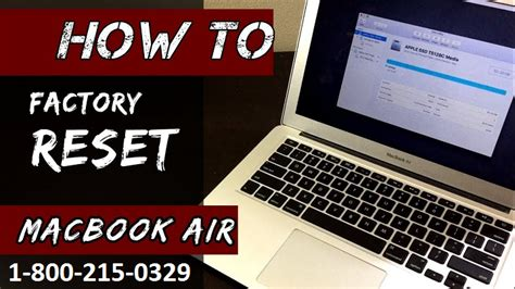Reset Macbook Air to Factory Settings Without Disk (1-888