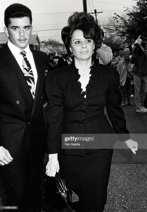 Victoria Gotti and Son Peter during Wedding of John Gotti