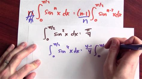 What is the integral of sin^n x dx in terms of sin^(n-2) x