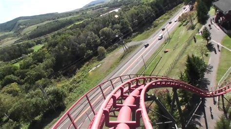 Togo Stand Up Roller Coaster Front Seat POV Standing
