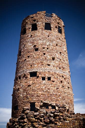 Ancient Lookout Tower Located In The Grand Canyon Arizona