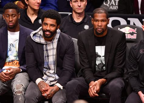 Nets Superstars Kevin Durant and Kyrie Irving Take Shoe