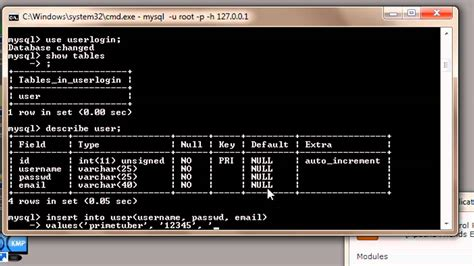 MySQL Tutorial for Beginners - 2 - Adding Data to Tables