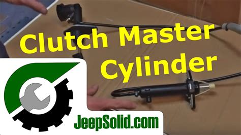 Jeep clutch master cylinder and slave cylinder replacement
