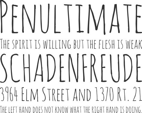 Free Font Amatic by Vernon Adams | Font Squirrel
