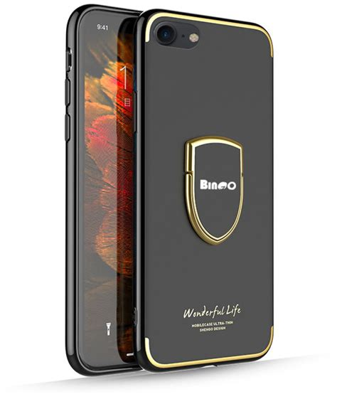 Apple Iphone 8 Cases with Stands Bingo - Black - Plain
