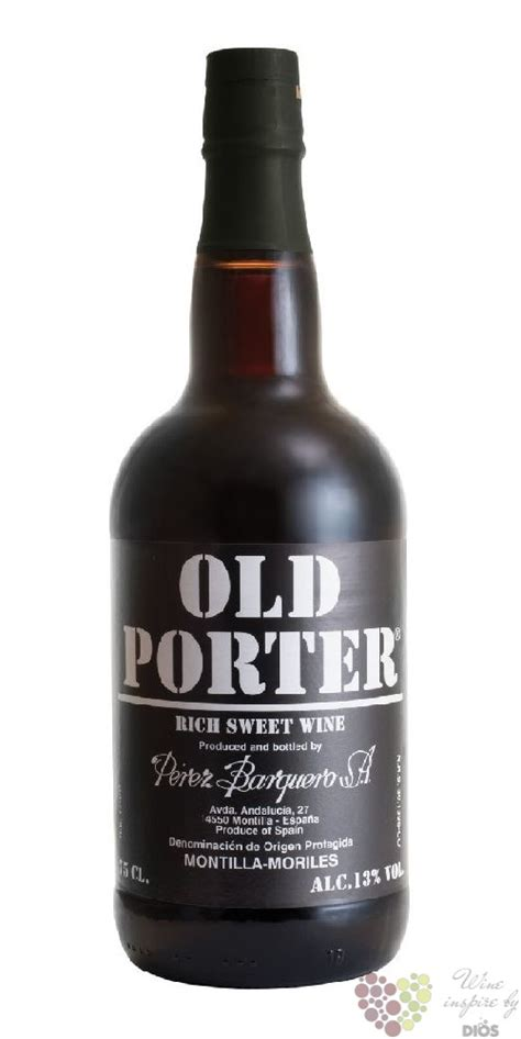 Old Porter red Mortilla Moriles Do rich sweet wine by