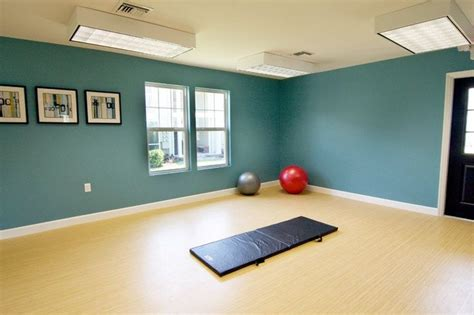 Yoga room: love the paint color