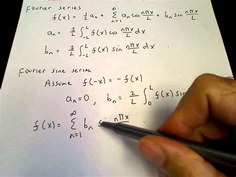 Fourier sine and cosine series - YouTube